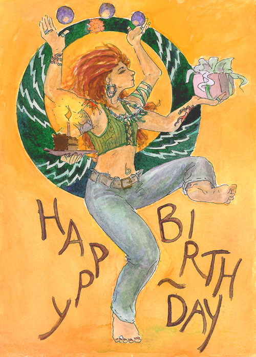 """Birthday Dancer"" copyright © 2008 Kirsten Talmage"